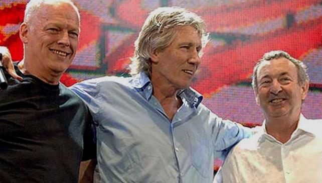 COMO EN 2005. La última vez de los miembros originales de Pink Floyd fue en el Live 8 de ese año.