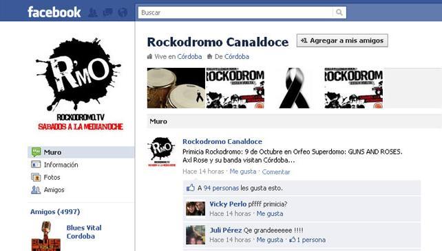 EN FACEBOOK. Rockodromo lo daba como confirmado, luego quitaron la publicación.