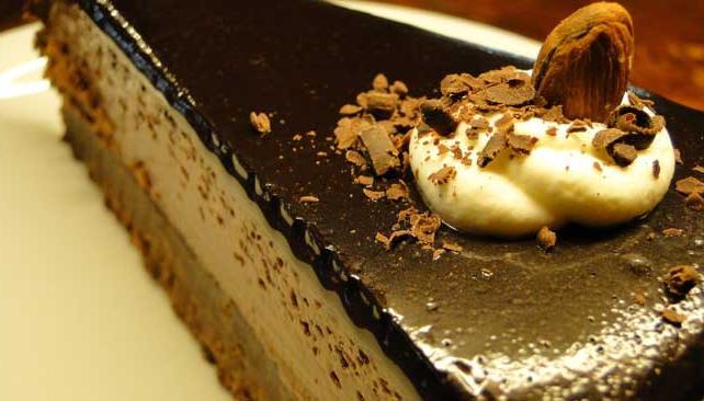 Torta de chocolate, un buen complemento para el café o el té.