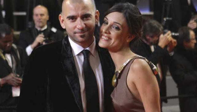 """CINE Y GLAMOUR. Pablo Trapero y Martina Gusmán (director y actriz de """"Carancho""""), en la alfombra roja de Cannes."""
