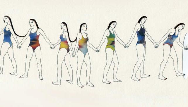 Mujeres y largos cabellos, una presencia constante en la obra de Villoslada.
