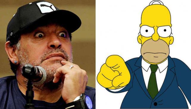 Maradona dice que odia a Los Simpson ¡y