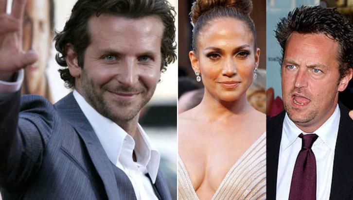 Bradley Cooper, Jennifer Lopez y Matthew Perry. Tres abstemios célebres.