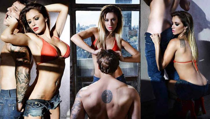 "Ciardone se puso bajo las órdenes del fotógrafo Gustavo Piñeiro para la serie ""Mujer alfa"""