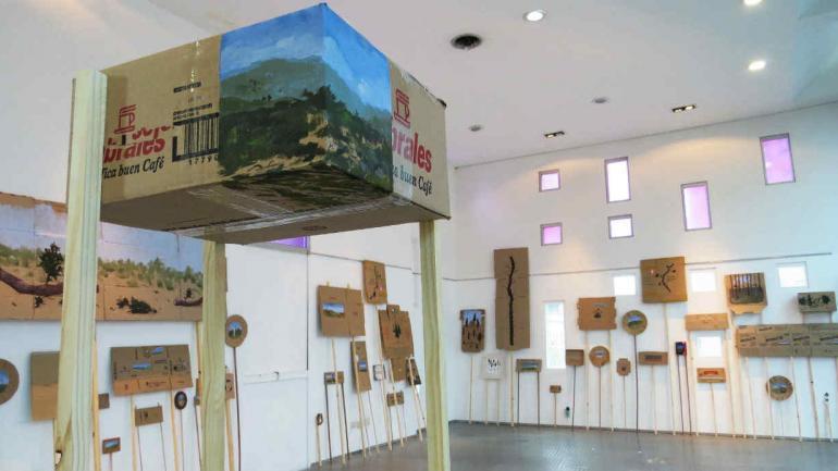 'El sonido de un árbol al caer', instalación de Manuel Coll en el Paseo del Buen Pastor.