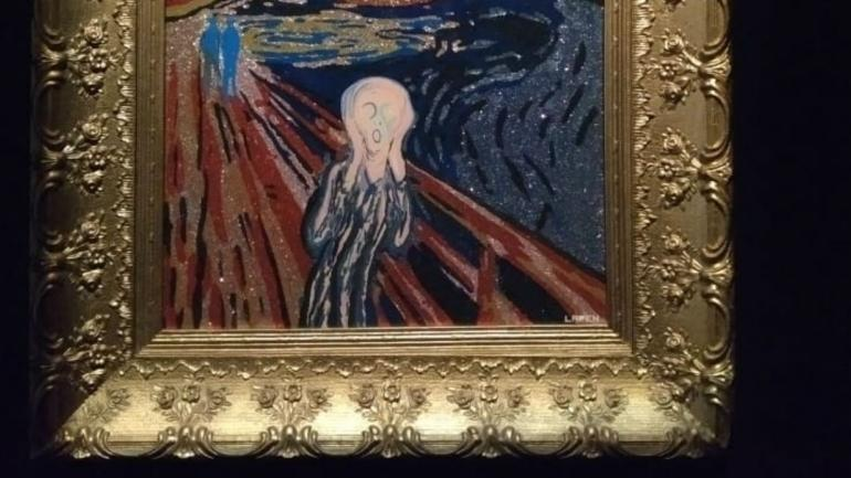 'Uy me robaron', obra de Benito Laren en la colección de Gustavo Bruzzone y una suite imperdible dentro de la muestra.