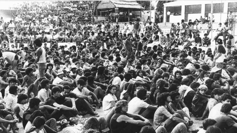 Ritual. En los '80, La Falda Rock se volvió un punto obligado para los amantes de la música joven argentina. (archivo)