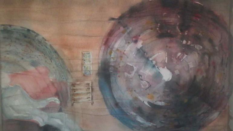 Acuarela de Valentina Bondone, que se verá en Estación de Arte, en La Cumbre.