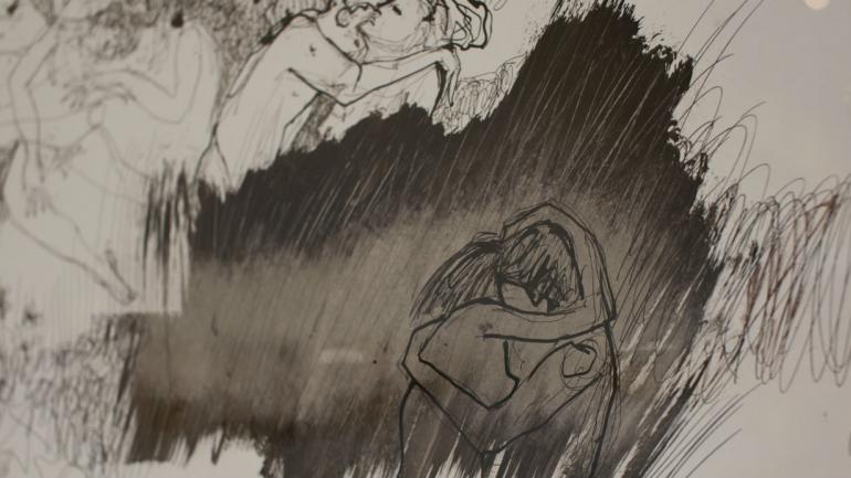 Dibujo de Marcela Argañaraz (gentileza Cecilia Casenave)