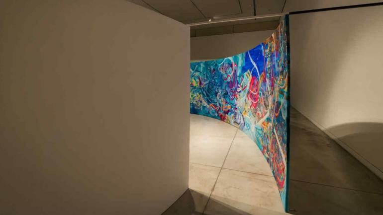 Ingreso a 'La Noche de Minerva', instalación pictórica de Irina Rosenfeldt. Fotografía: gentileza de Gonzalo Viramonte.