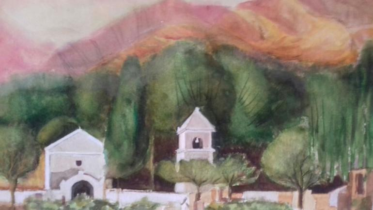 Paisaje de Elita Fourcade, expone en Colegio de Escribanos.