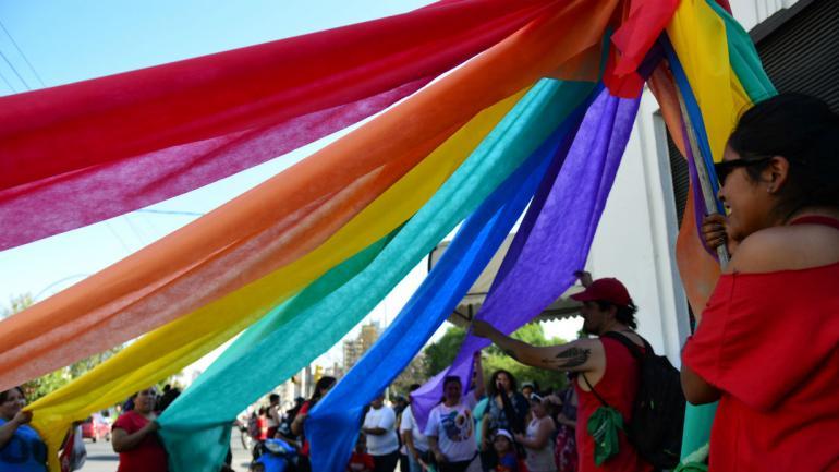 Los colores de la bandera de la diversidad (archivo, Nicolás Bravo)