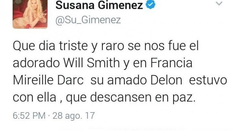 El terrible blooper de Susana Giménez: ¡dio por muerto a Will Smith!