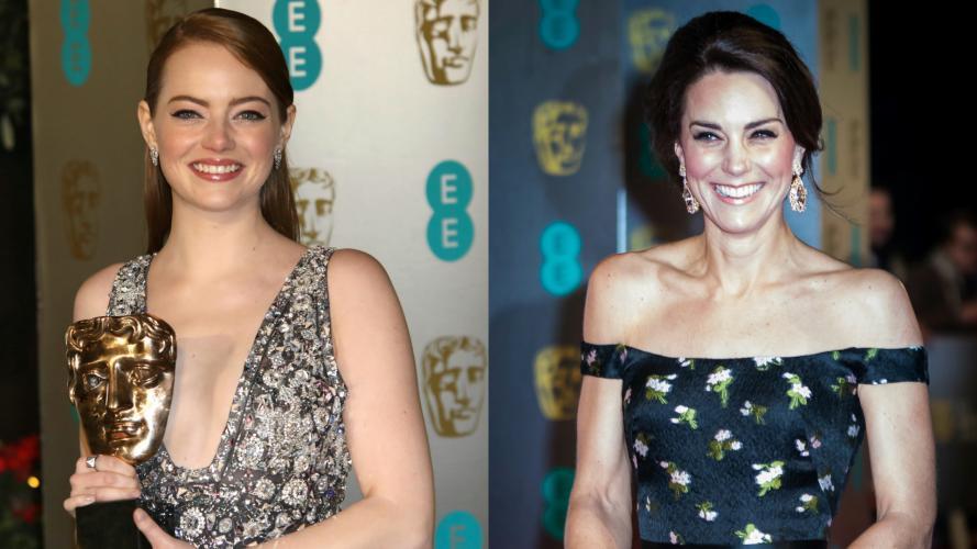 Kate Middleton y Emma Stone, las más elogiadas en los premios BAFTA 2017