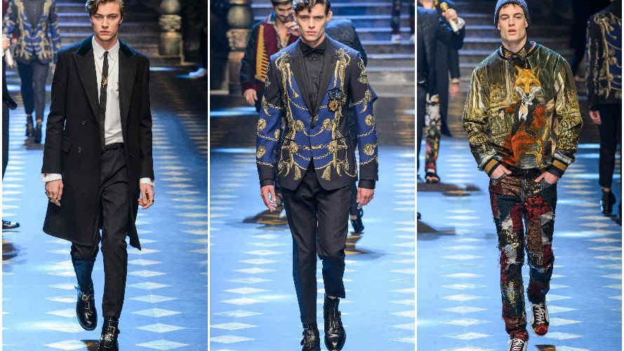 Los millennials de Dolce & Gabbana: un desfile masculino repleto de
