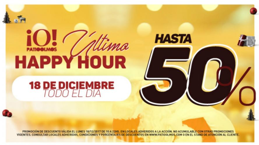 Descuentos de hasta el 50% en el Happy Hour de Patio Olmos