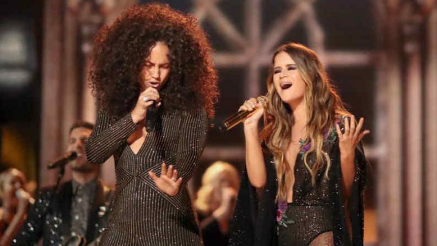 Única: Alicia Keys deslumbró con curvas y sin maquillaje en los Grammy 2017