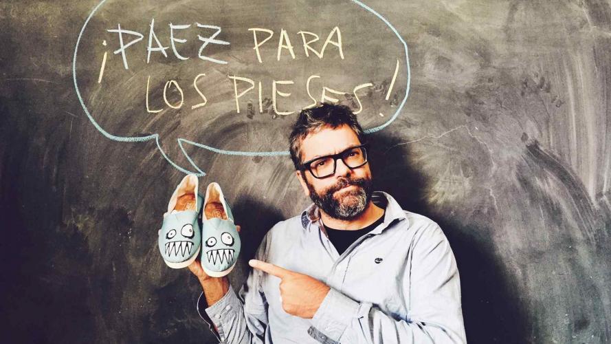 Paez lanza una edición de alpargatas con Liniers