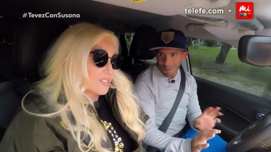 Susana con Tévez: ¿exceso de filtros en la imagen?