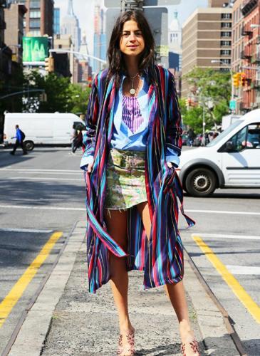 Esta primavera usá batas y kimonos