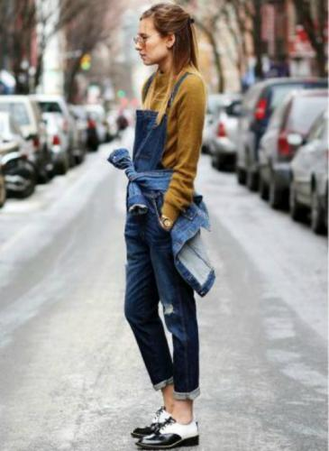 Cómo usar el clásico enterito de jean este otoño